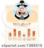 Clipart Of A Chubby Thanksgiving Pilgrim Man Holiday Schedule Design Royalty Free Vector Illustration