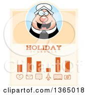 Clipart Of A Chubby Thanksgiving Pilgrim Woman Holiday Schedule Design Royalty Free Vector Illustration
