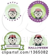 Halloween Zombie Boy Badges