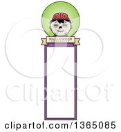 Halloween Zombie Boy Bookmark