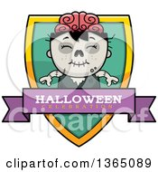 Halloween Zombie Boy Halloween Celebration Shield