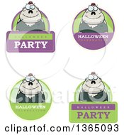 Halloween Zombie Badges