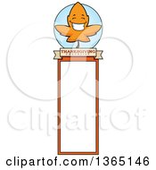 Clipart Of A Fall Autumn Leaf Character Bookmark Royalty Free Vector Illustration