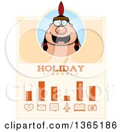 Clipart Of A Thanksgiving Native American Indian Man Holiday Schedule Design Royalty Free Vector Illustration by Cory Thoman