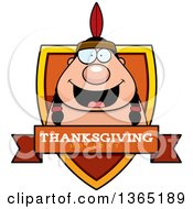 Clipart Of A Thanksgiving Native American Indian Man Thanksgiving Holiday Shield Royalty Free Vector Illustration by Cory Thoman