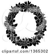 Clipart Of A Black And White Floral Lowercase Alphabet Letter O Royalty Free Vector Illustration