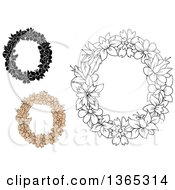 Clipart Of Floral Lowercase Alphabet Letter O Designs Royalty Free Vector Illustration