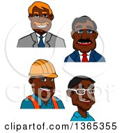 Clipart Of Cartoon Avatars Of Black Men Royalty Free Vector Illustration by Vector Tradition SM