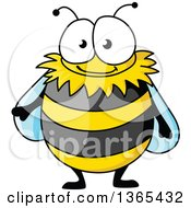 Clipart Of A Cartoon Happy Bee Royalty Free Vector Illustration by Vector Tradition SM