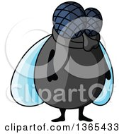 Clipart Of A Cartoon House Fly Royalty Free Vector Illustration by Vector Tradition SM