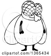 Clipart Of A Cartoon Black And White House Fly Royalty Free Vector Illustration by Vector Tradition SM