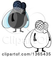 Clipart Of Cartoon House Flies Royalty Free Vector Illustration by Vector Tradition SM