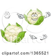 Clipart Of A Cartoon Face Hands And Cauliflower Royalty Free Vector Illustration