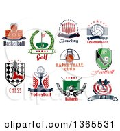 Poster, Art Print Of Recreation And Sports Designs With Text