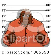 Clipart Of A Senior Black Man Getting His Mugshot Taken Royalty Free Vector Illustration