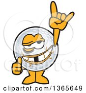 Clipart Of A Damaged Golf Ball Sports Mascot Character Royalty Free Vector Illustration by Toons4Biz