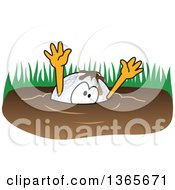 Clipart Of A Golf Ball Sports Mascot Character Drowning In Mud Royalty Free Vector Illustration by Toons4Biz