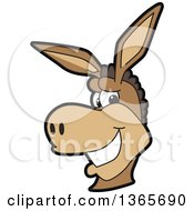 Cartoon Donkey Mascot Smiling