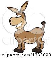 Clipart Of A Cartoon Donkey Mascot Royalty Free Vector Illustration by Toons4Biz