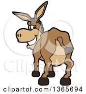 Clipart Of A Cartoon Donkey Mascot Showing His Butt And Looking Back Royalty Free Vector Illustration by Toons4Biz