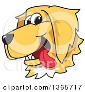 Clipart Of A Cartoon Happy Golden Retriever Dog Face Royalty Free Vector Illustration