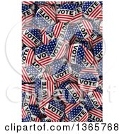 Clipart Of 3d American Flag Presidential Election Vote Buttons In A Box Royalty Free Illustration