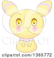 Cute Yellow Bunny Rabbit Creature