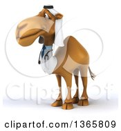 Clipart Of A 3d Arabian Doctor Camel On A White Background Royalty Free Illustration