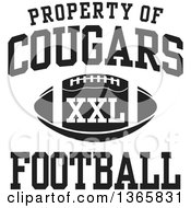 Black And White Property Of Cougars Football XXL Design
