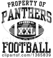 Black And White Property Of Panthers Football XXL Design