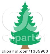 Clipart Of A Conifer Evergreen Tree Royalty Free Vector Illustration by visekart