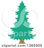 Clipart Of A Conifer Evergreen Tree Royalty Free Vector Illustration