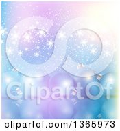 Clipart Of A Christmas Background Of 3d Bauble Ornaments Over Snowflakes On Gradient Royalty Free Vector Illustration
