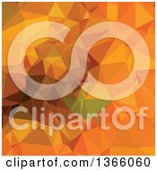 Clipart Of A Deep Carrot Orange Low Poly Abstract Geometric Background Royalty Free Vector Illustration by patrimonio