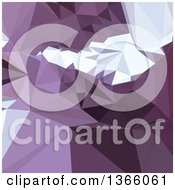 Clipart Of A Dark Pastel Purple Low Poly Abstract Geometric Background Royalty Free Vector Illustration by patrimonio