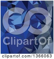Clipart Of A Catalina Blue Low Poly Abstract Geometric Background Royalty Free Vector Illustration by patrimonio