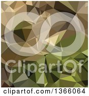 Clipart Of A Burlywood Brown Low Poly Abstract Geometric Background Royalty Free Vector Illustration by patrimonio