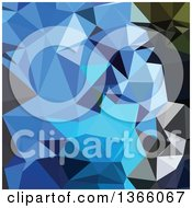 Clipart Of An Air Force Blue Low Poly Abstract Geometric Background Royalty Free Vector Illustration by patrimonio