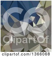 Clipart Of An Ash Grey Low Poly Abstract Geometric Background Royalty Free Vector Illustration by patrimonio