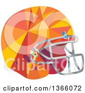 Clipart Of A Low Polygon Styled American Football Helmet Royalty Free Vector Illustration