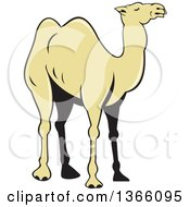 Clipart Of A Cartoon Camel Royalty Free Vector Illustration by patrimonio