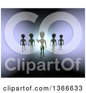 Clipart Of 3d Mysterious Aliens Royalty Free Illustration by Julos