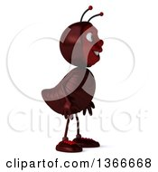 Clipart Of A 3d Happy Ant Facing Right On A White Background Royalty Free Illustration by Julos