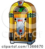 Clipart Of A Retro Vintage Jukebox Machine Royalty Free Vector Illustration by Clip Art Mascots