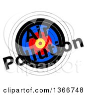 Target With Air Pollution Text Over It On A White Background