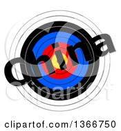 Clipart Of A Target With China Text Over It On A White Background Royalty Free Illustration by oboy
