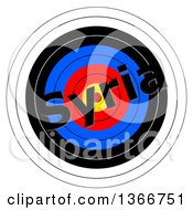 Clipart Of A Target With Syria Text Over It On A White Background Royalty Free Illustration