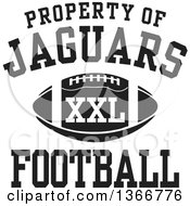 Black And White Property Of Jaguars Football XXL Design