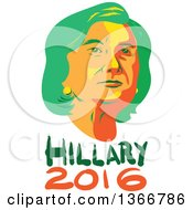Clipart Of A Retro Portrait Of Hillary Clinton Over Text Royalty Free Vector Illustration by patrimonio