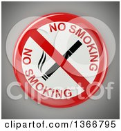 Clipart Of A No Smoking Sign With A Cigarette Over Gray Royalty Free Vector Illustration